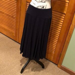 Coldwater creek navy blue knit flare skirt